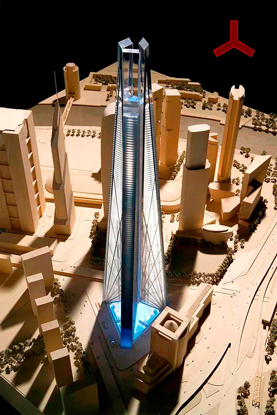 「ロシア・タワー」の模型