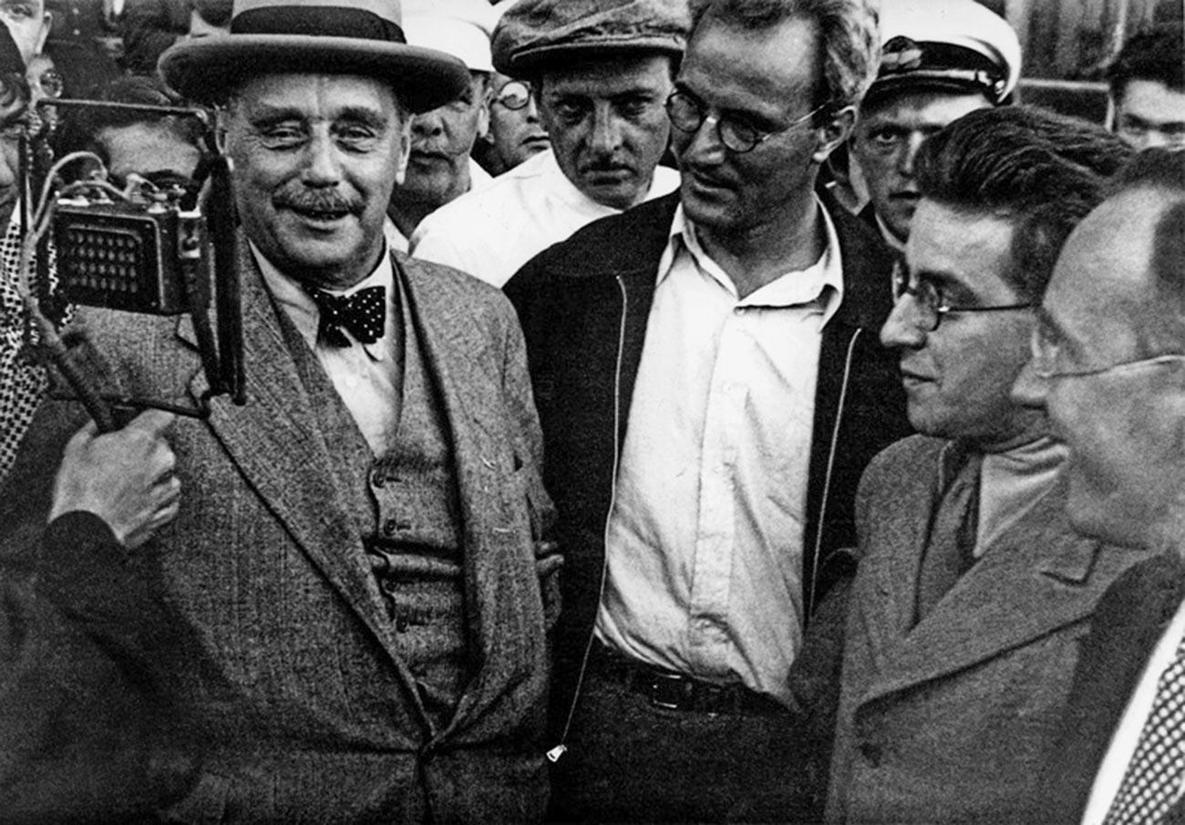 H.G. Wells in Moskau, 1934