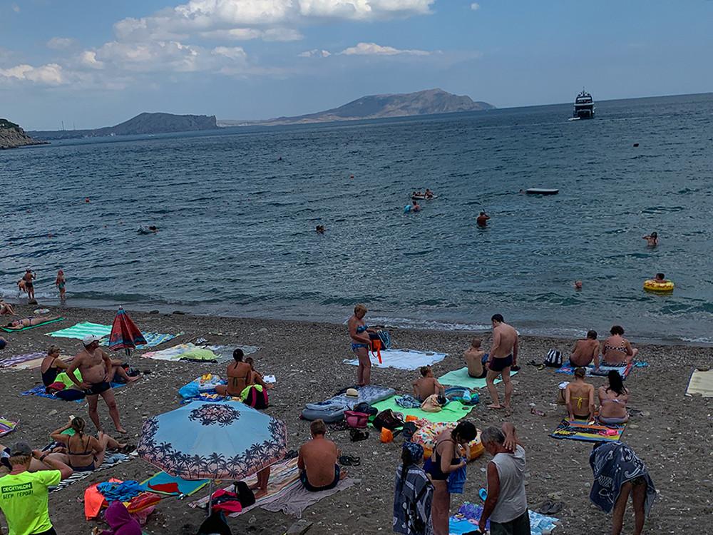 Ein Strand auf der Krim