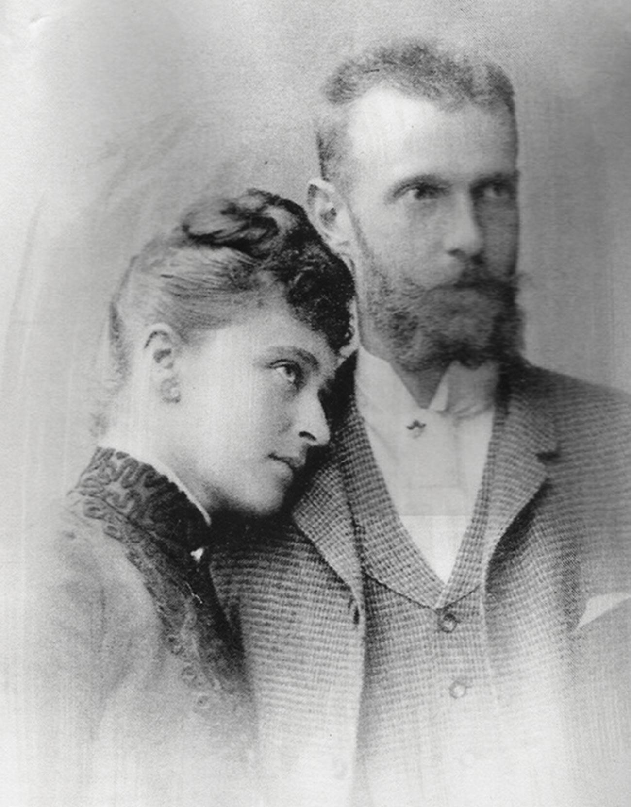 Élisabeth Fiodorovna et son époux Serge Romanov