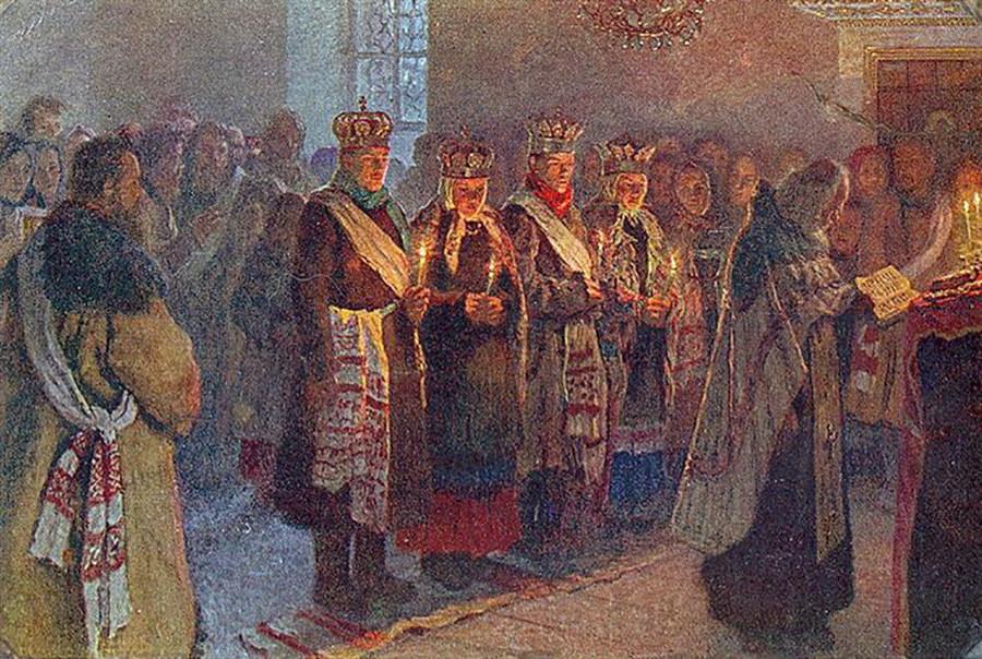 Mariage à l'église, 1904