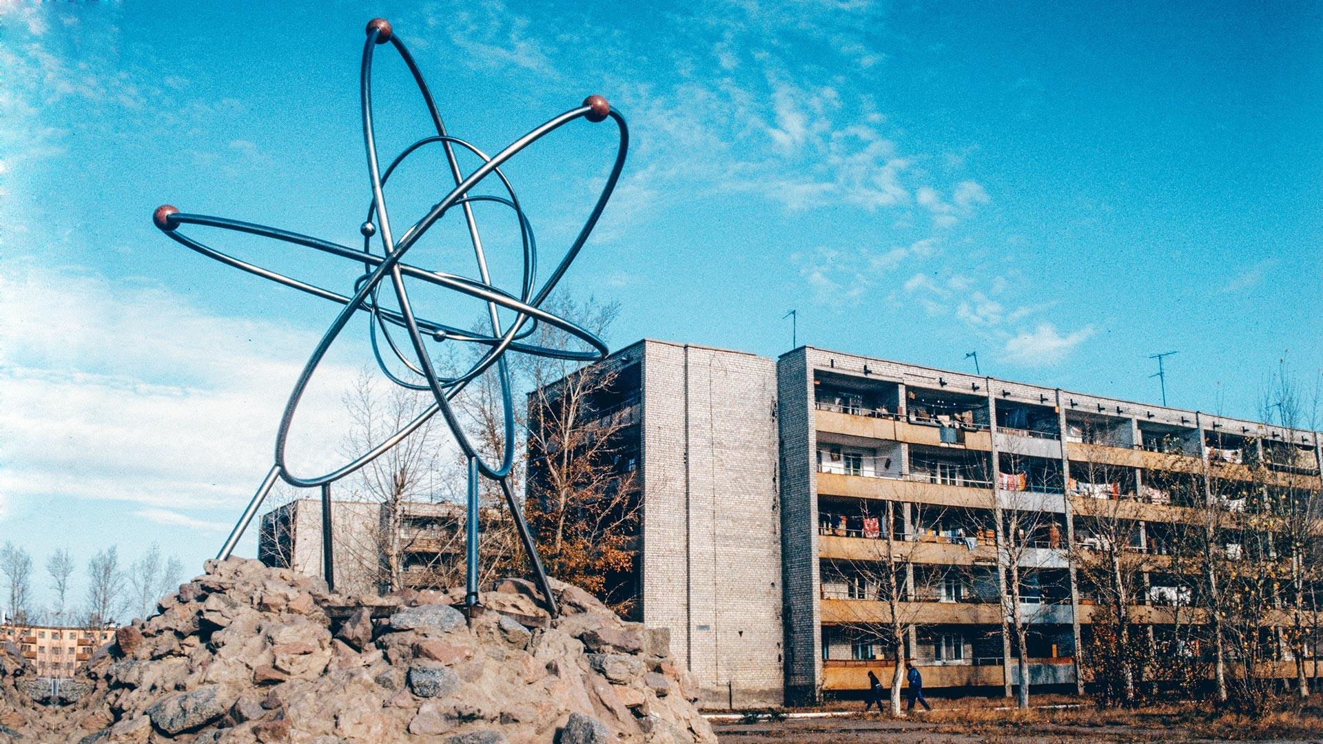 セミパラチンスク核実験場に隣接した核実験におけるかつての中心都市であったクルチャトフ市