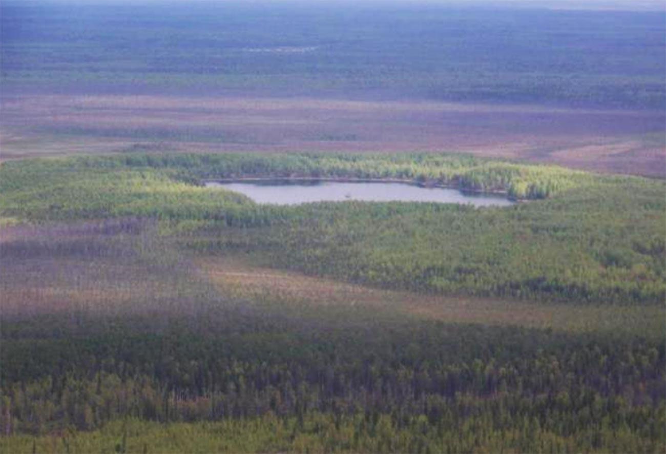 Озеро Ядерное на севере Пермского края.