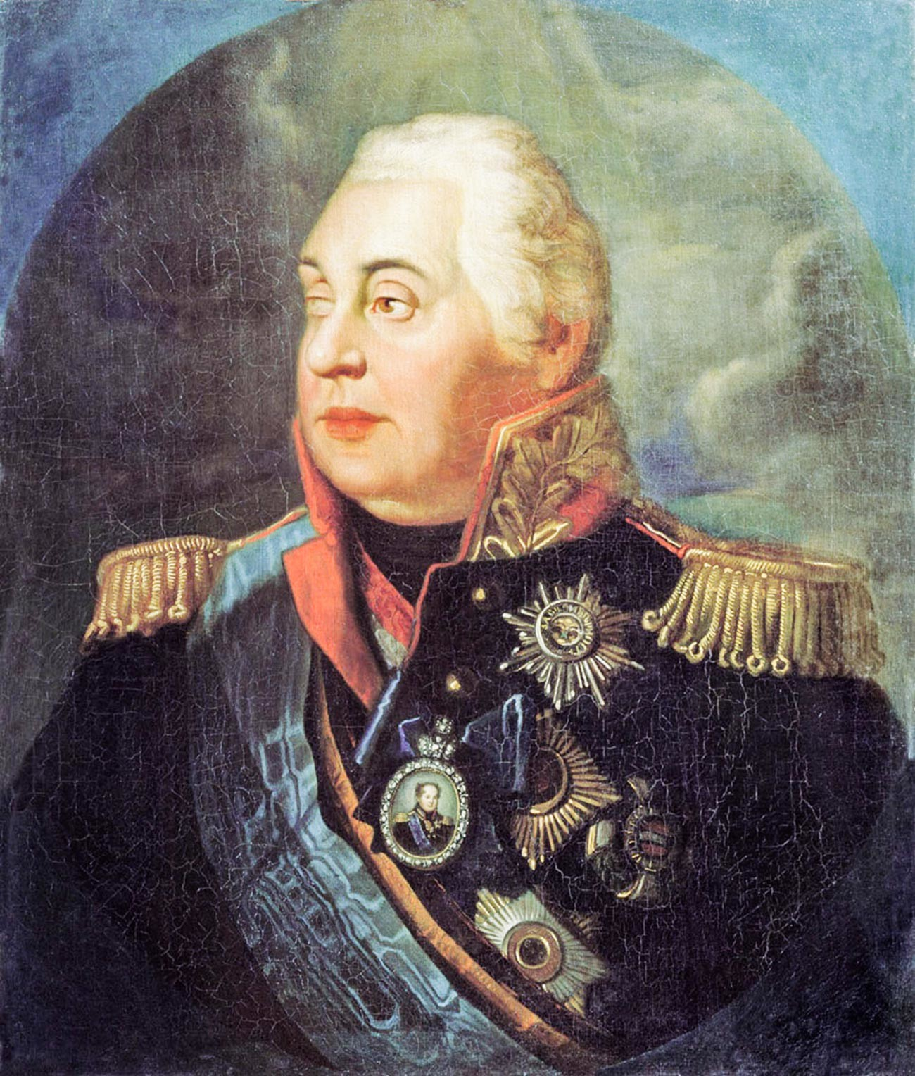 Portret ruskogo feldmaršala M.I. Kutuzova.