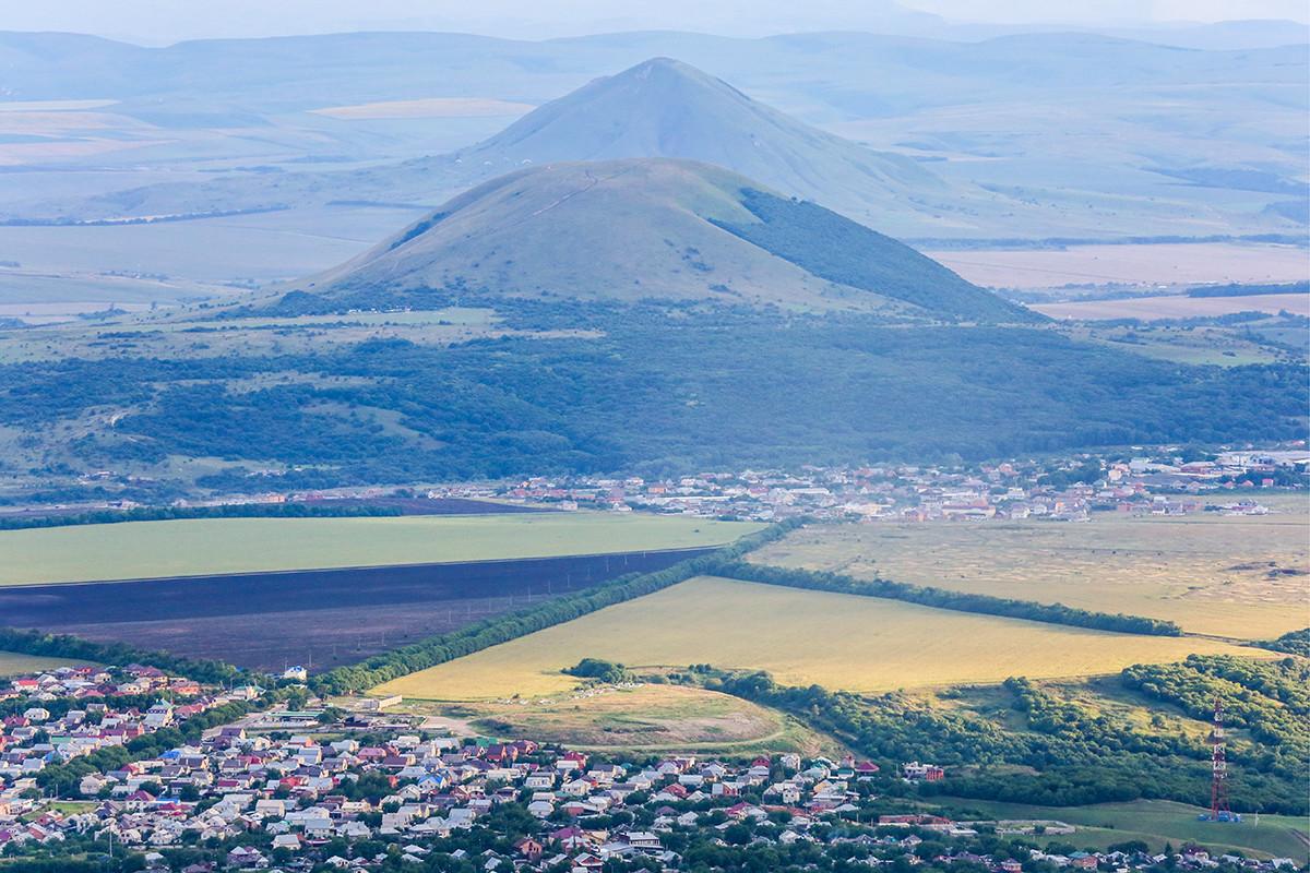 Вид на город с горы Машук.