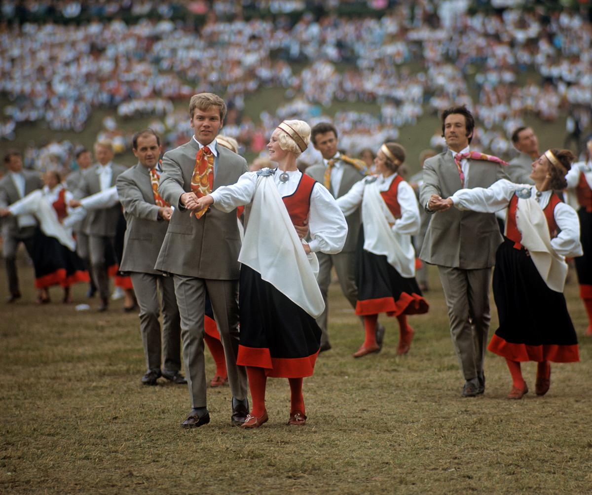 Fête de danse à Tallinn, 1970
