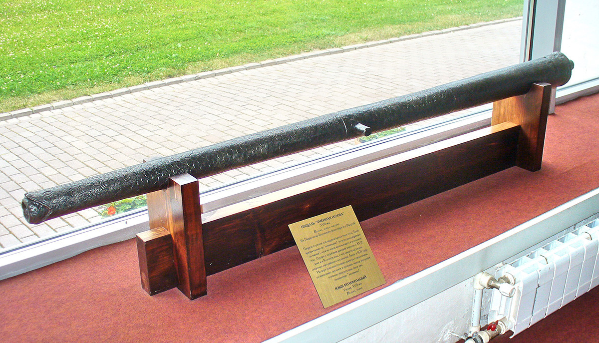 """Il cannone da fortezza del XVII secolo """"Aspide"""", Museo Kolomenskoe, Mosca. Gittata: 2000 metri"""