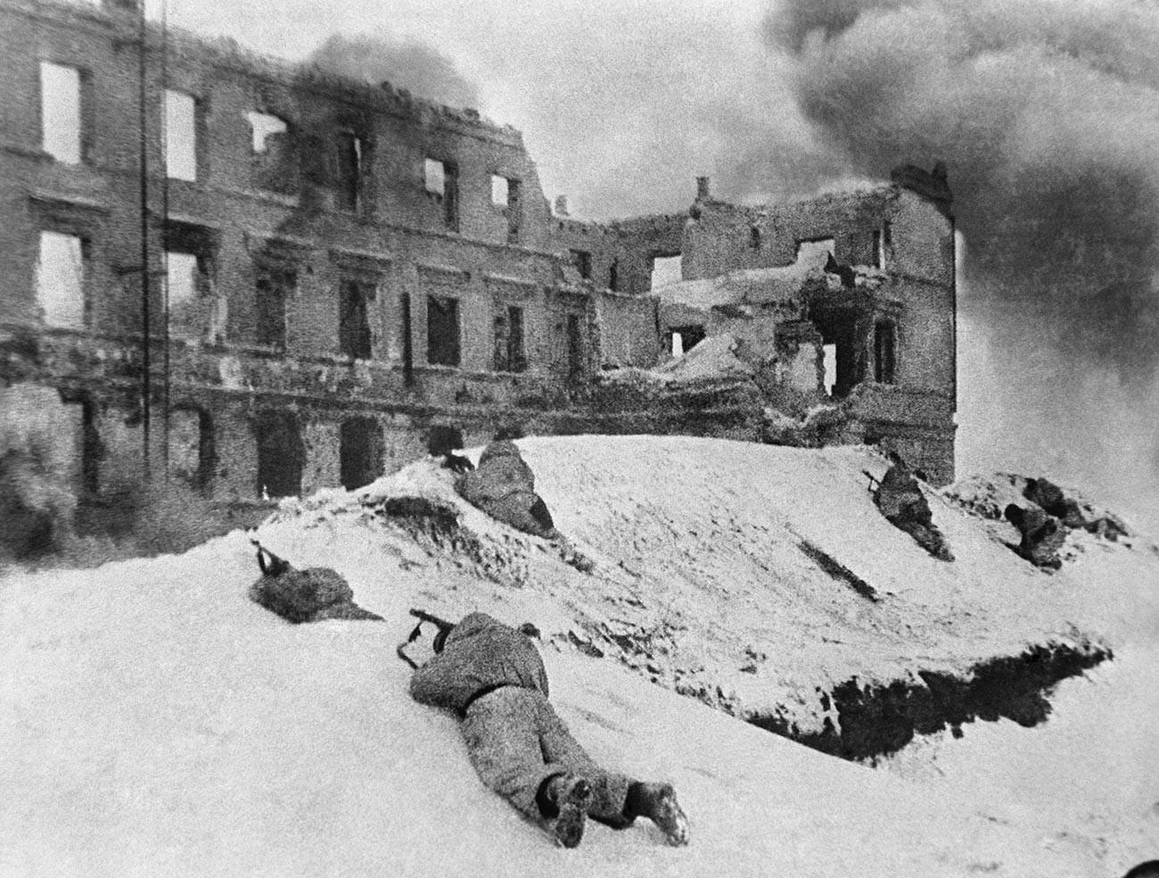 Durant la bataille de Stalingrad