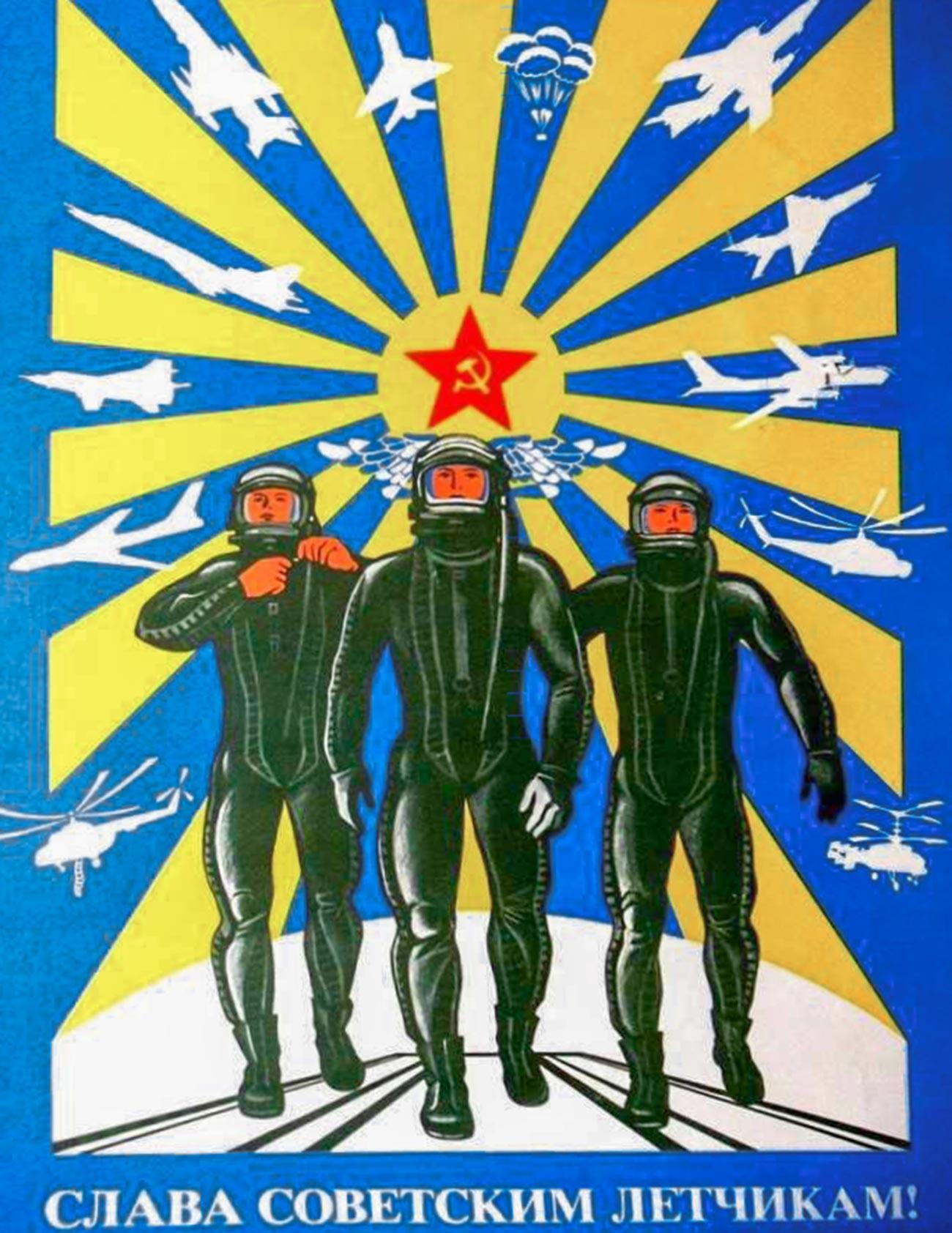 « Gloire aux pilotes soviétiques ! »