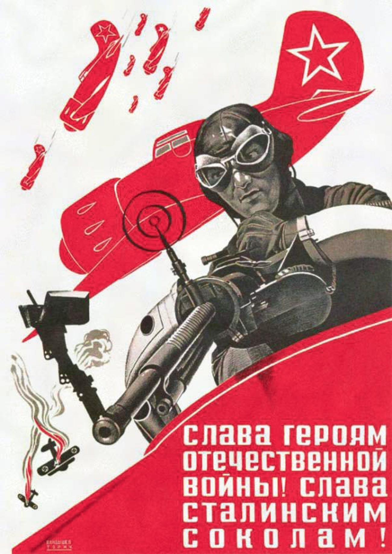 « Gloire aux héros de la Grande Guerre patriotique ! Gloire aux faucons de Staline ! »