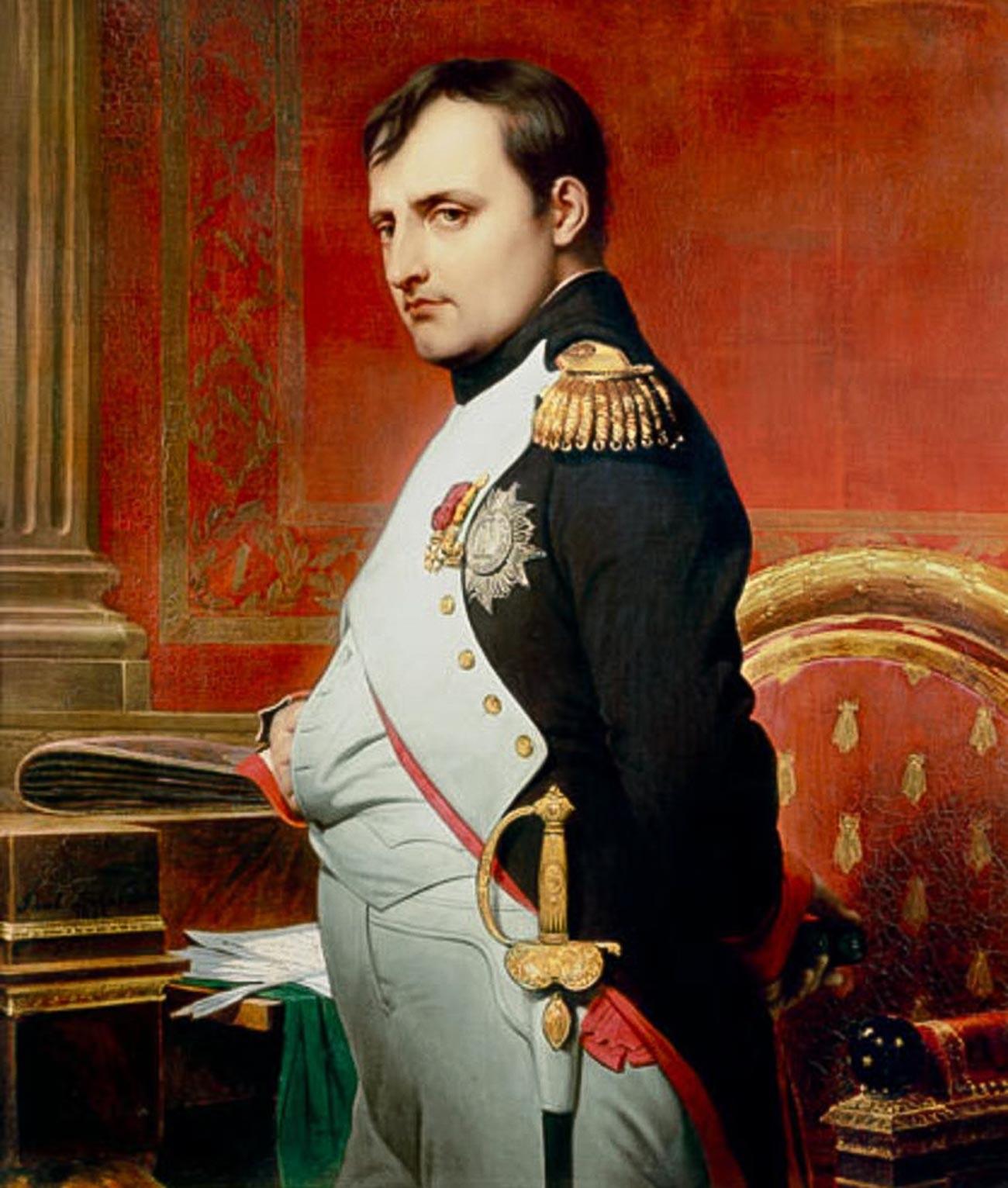 «L'empereur Napoléon Ier dans son cabinet de travail en 1807»