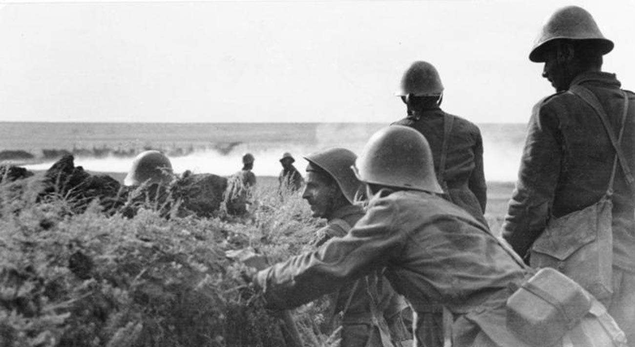 Des soldats roumains dans le Sud de la Russie