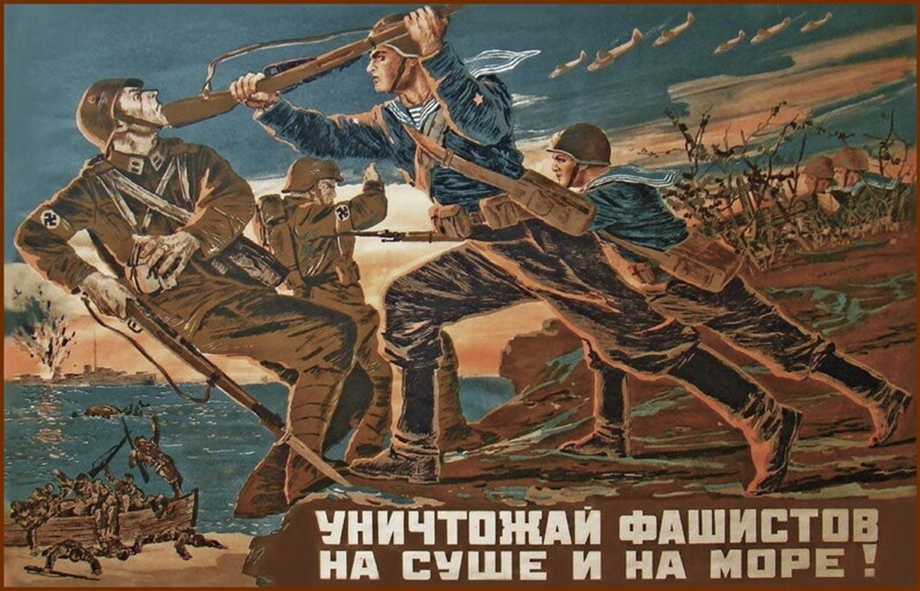« Anéantis les fascistes sur terre et mer ! »