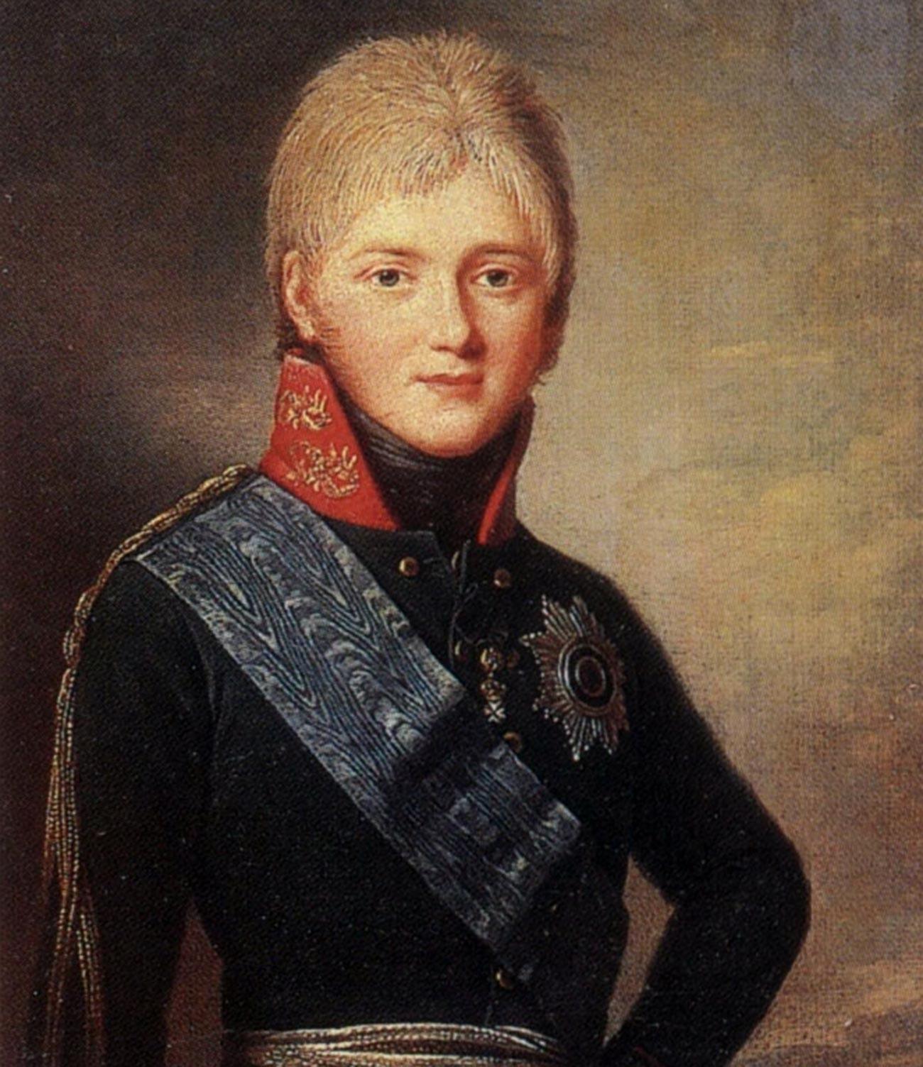 Il granduca Aleksandr Pavlovich (il futuro imperatore Alessandro I)