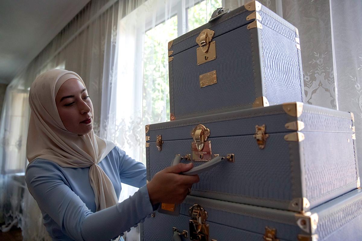 Dot à Grozny, capitale de la Tchétchénie, au domicile des parents d'une future mariée