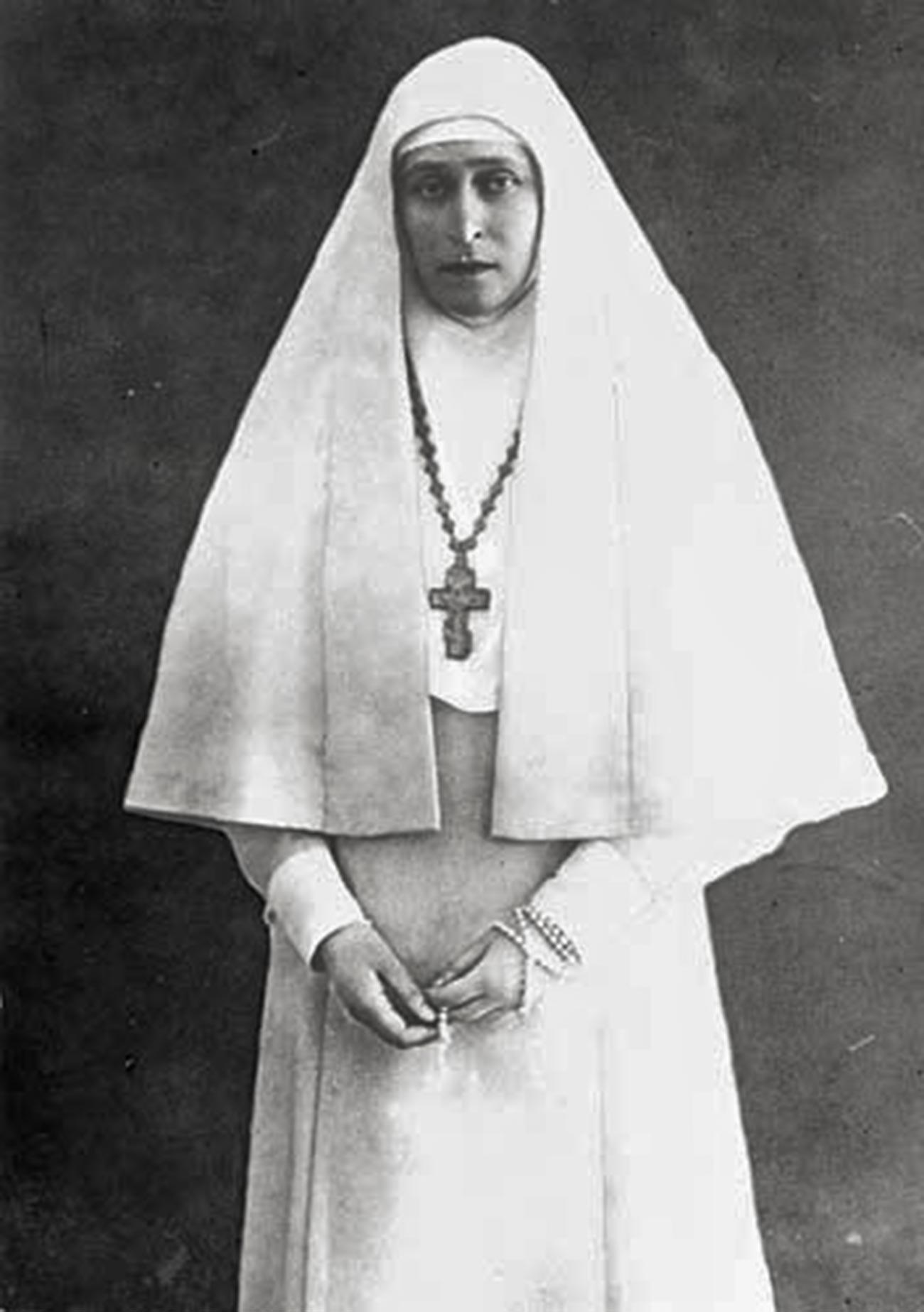 La granduchessa Elizaveta Fjodorovna nel 1918