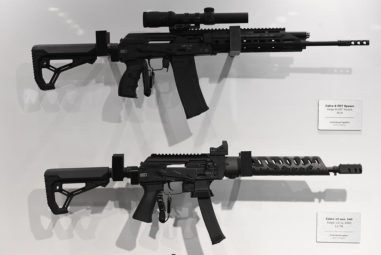 「アルミヤ2019」博覧会に提示されたカラシニコフ社の銃