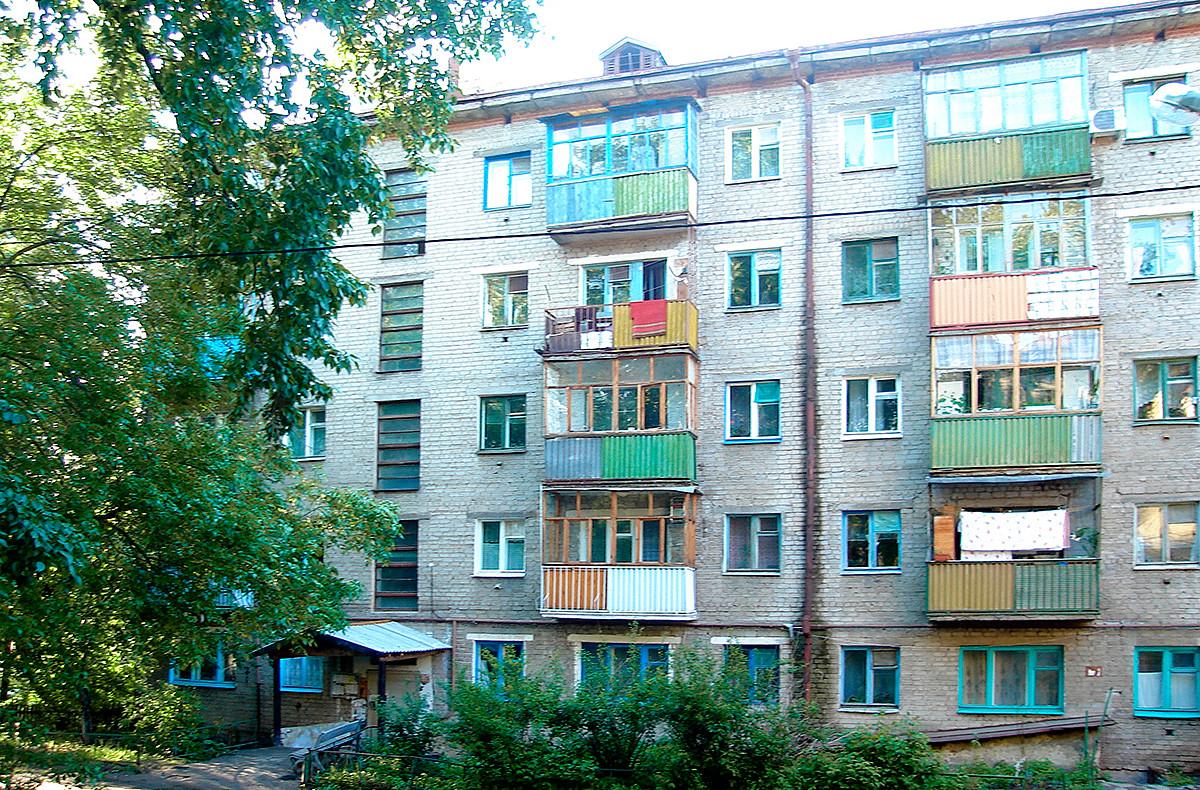 カザン市にあるフルシチョフカ