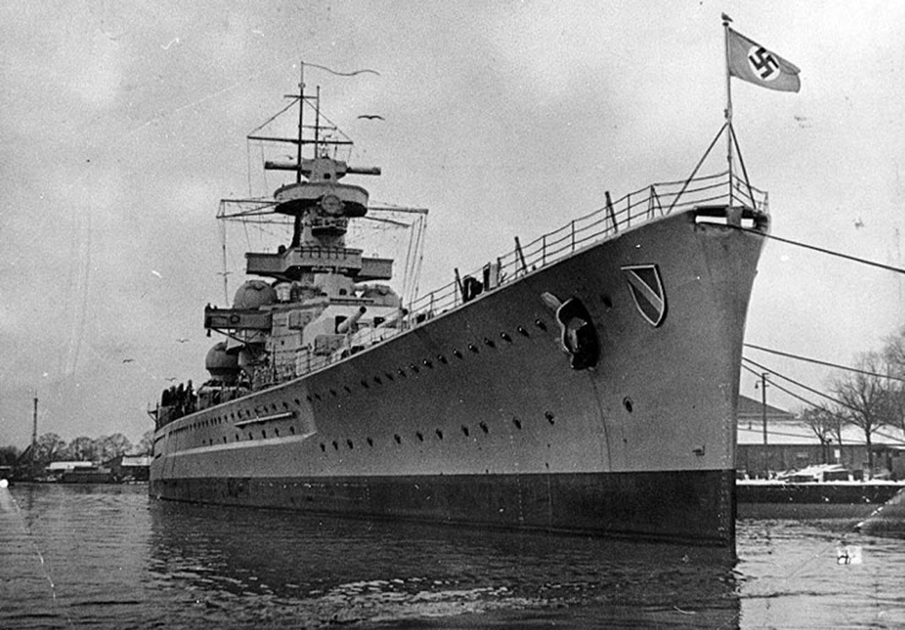 """Немачки бојни брод """"Шарнхорст""""."""