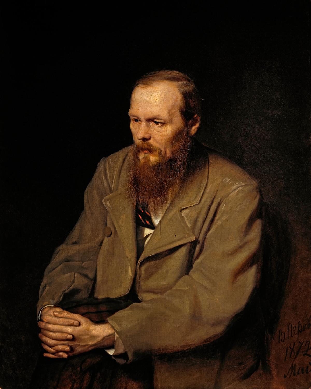 Die Porträt von Fjodor Dostojewski von Wassili Perow