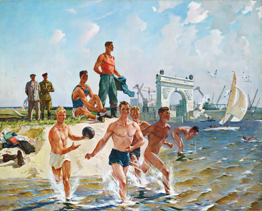 Alexander Deinek. Brigade on Vacation, 1952