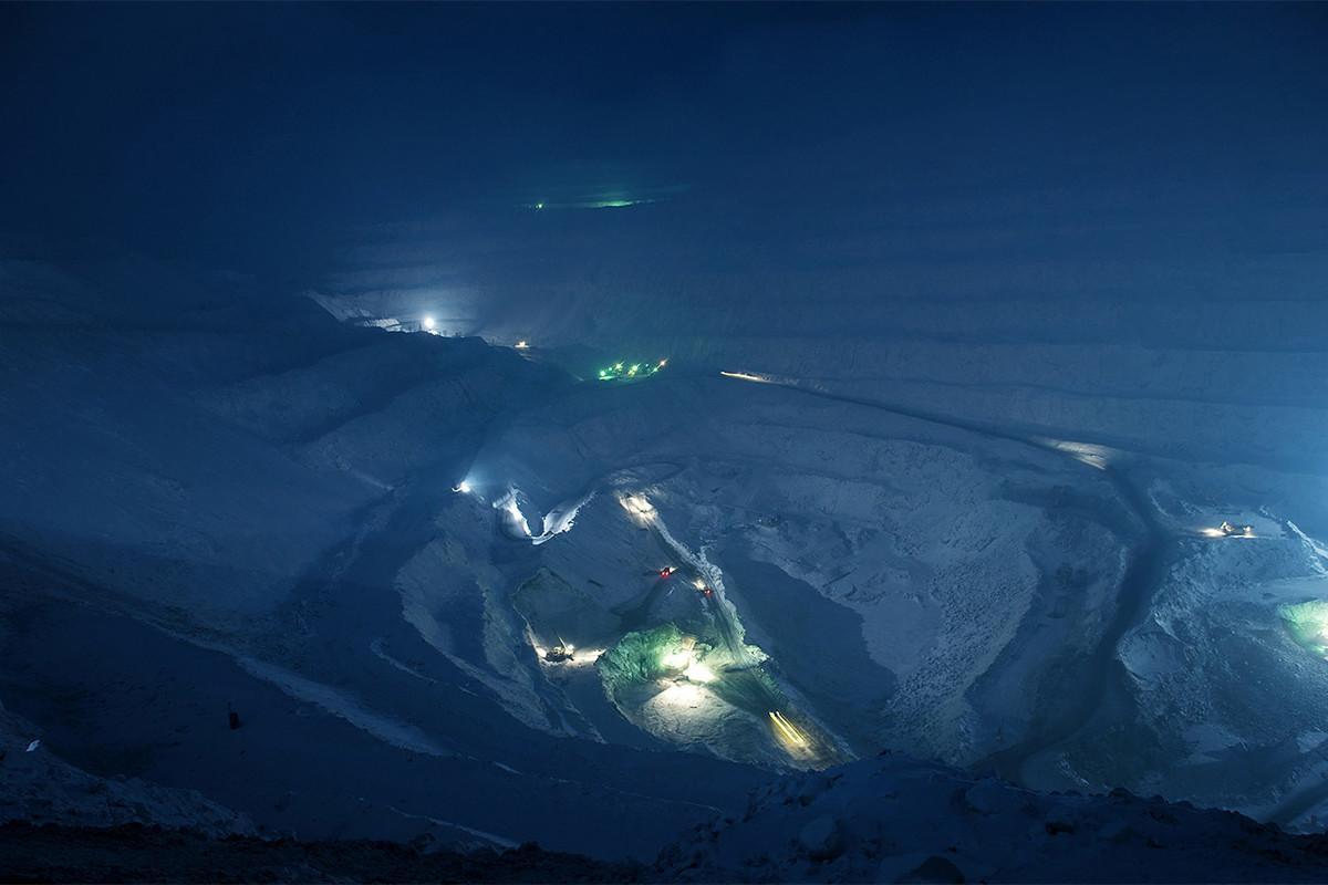 Una mina industrial en Norilsk.