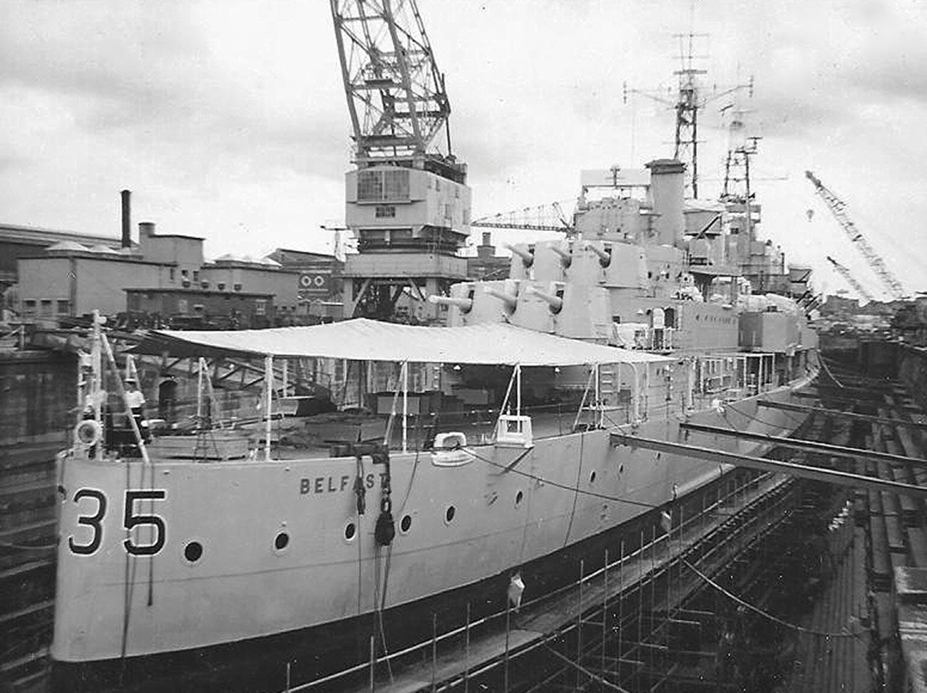 Крейсер «Белфаст».