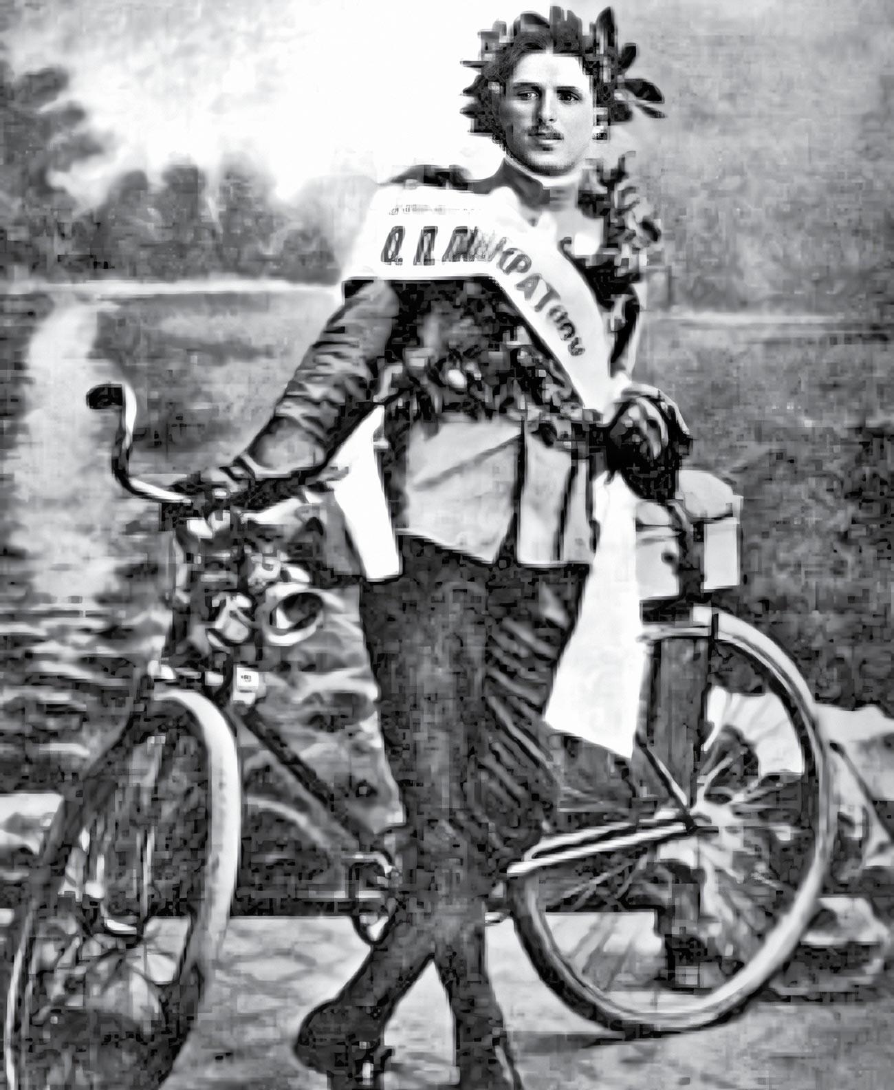 Онисим Панкратов в день прибытия в Харбин 10 августа 1913