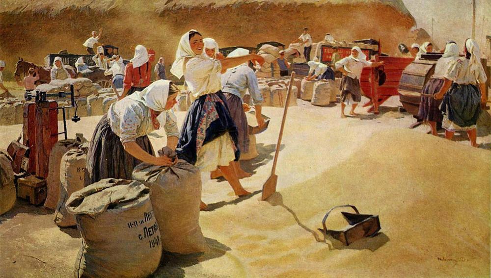 『穀物』、タチアナ・ヤブロンスカヤ作、1949年