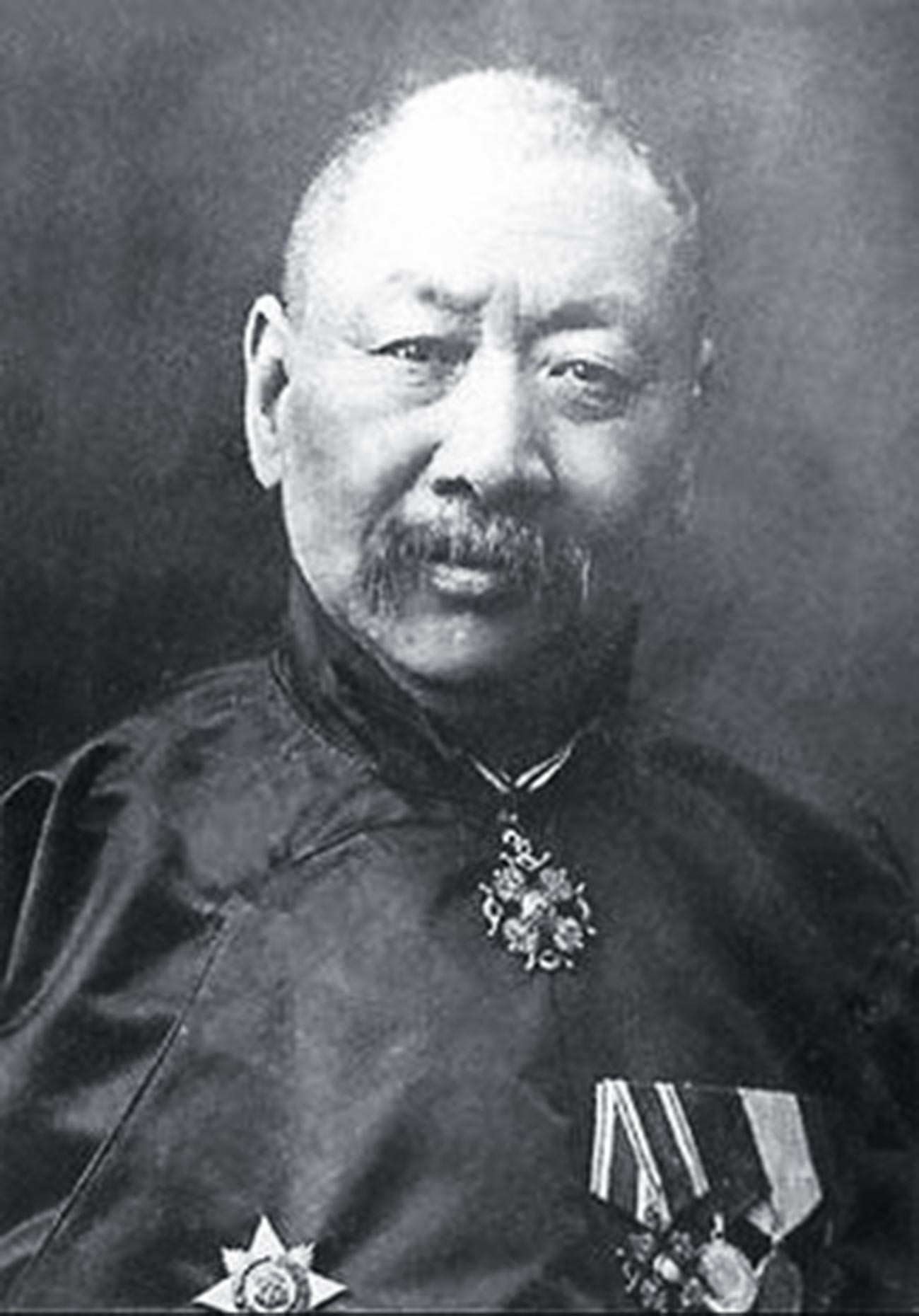 Nikolai Tifontay with orders of the Russian Empire