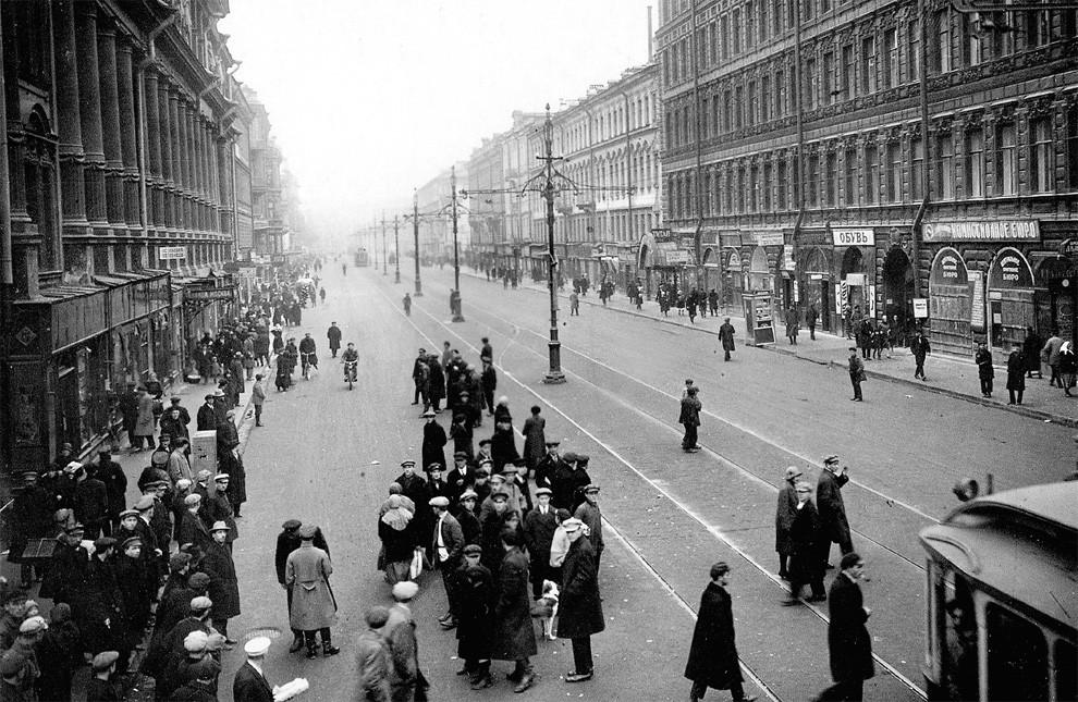Petrograd in the 1920s. Nakhimsona prospect.