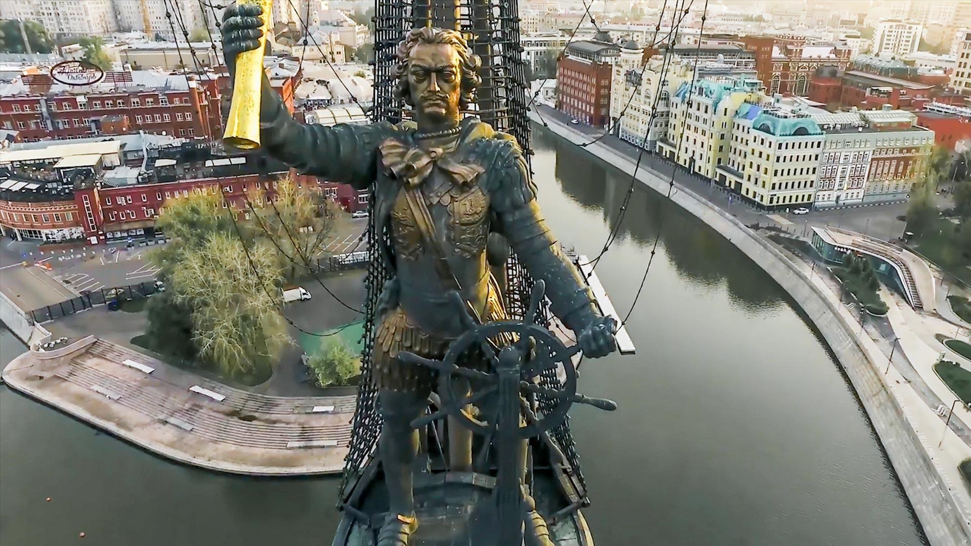 Споменик Петру Великом у Москви.