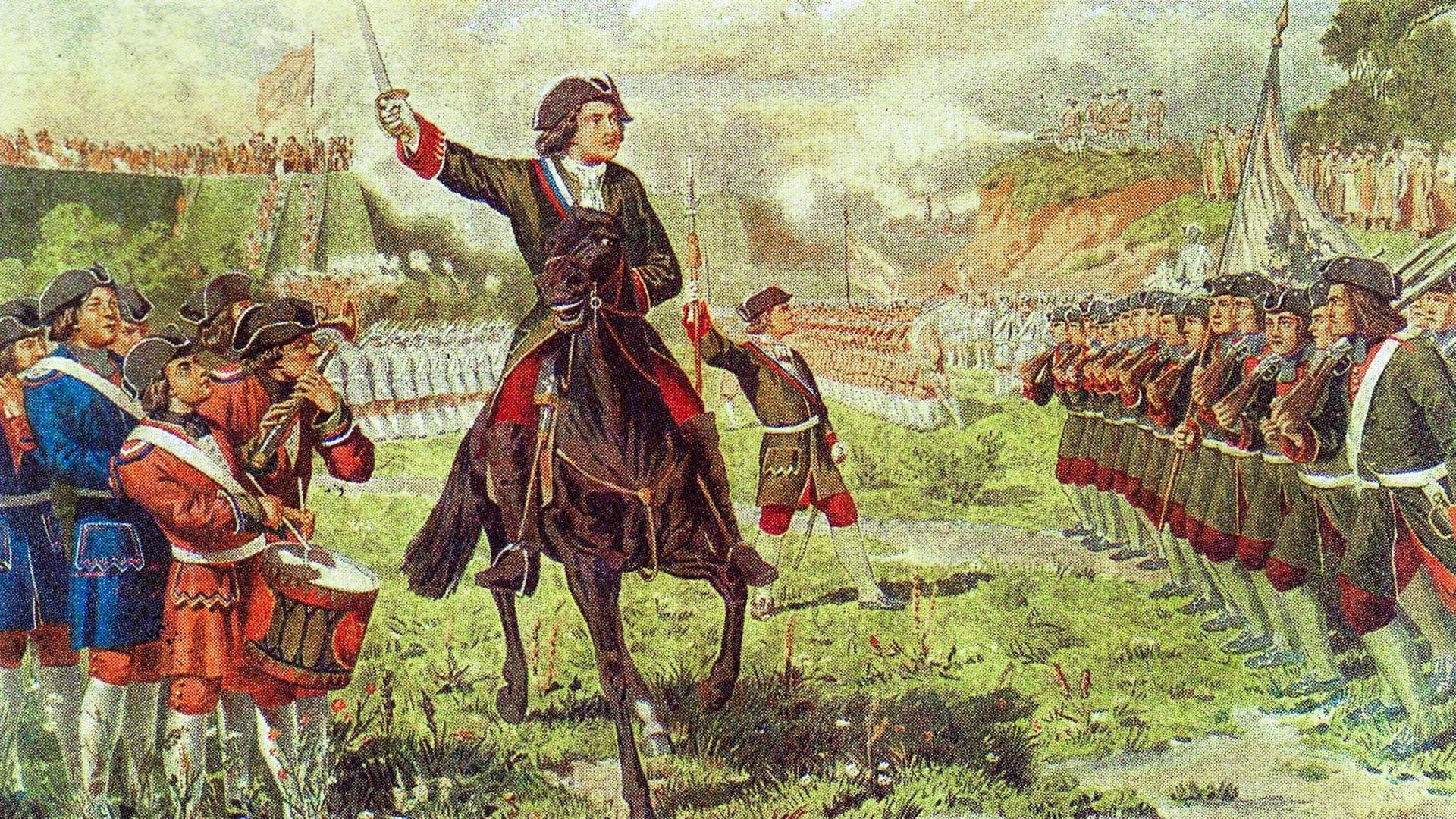 Војне игре Потешних јединица Петра I код села Кожухова.