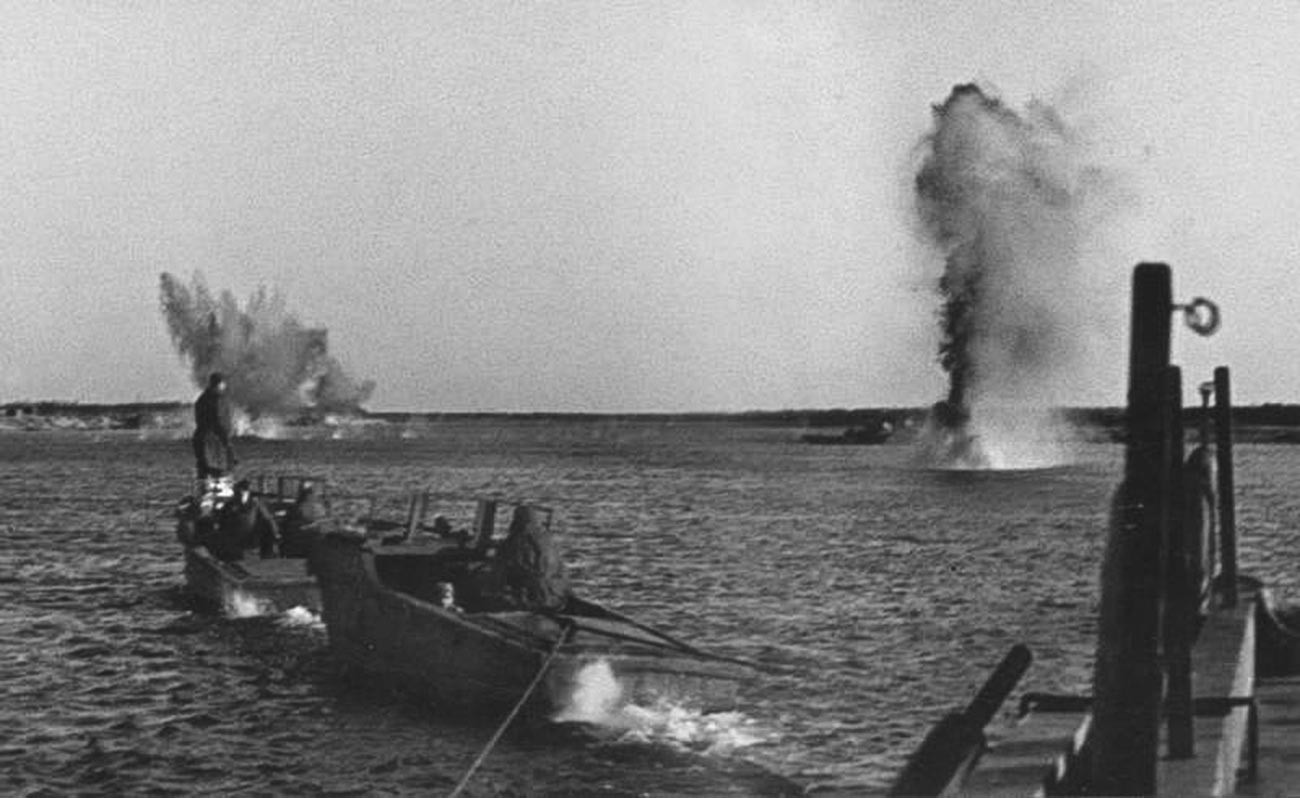 La traversée du Dniepr par l'armée soviétique