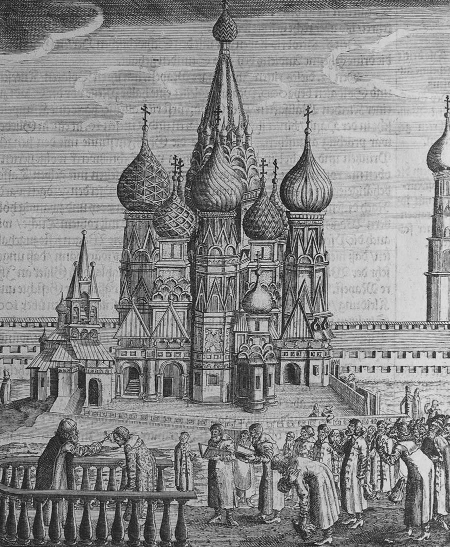 Mosca. Illustrazione da Viaggi per il Gran Duca di Moscovia e il re di Persia di Adam Olea. Artisti: Rothgiesser, Christian Lorenzen (?-1659)