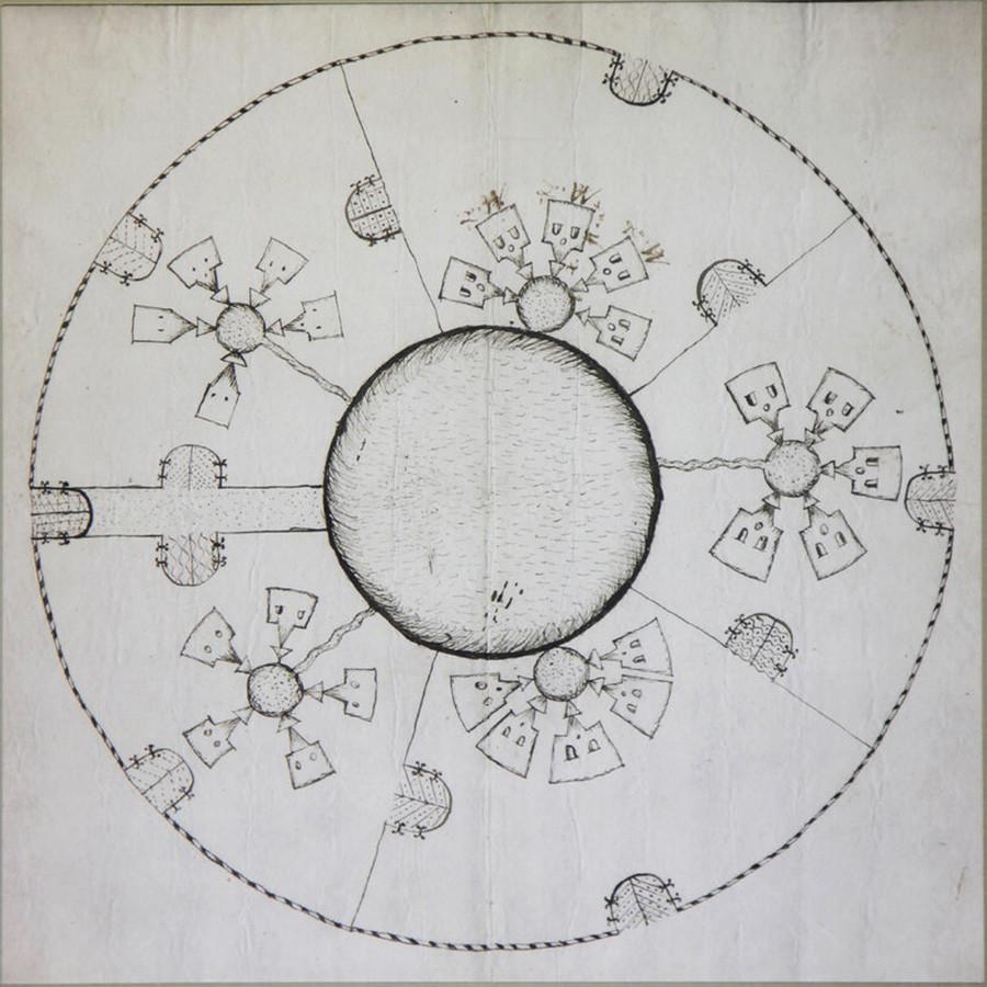 Disegno N. 65. Fabbrica di mattoni di Strokinsky. 1660 circa. P. S. Kudryavtsev
