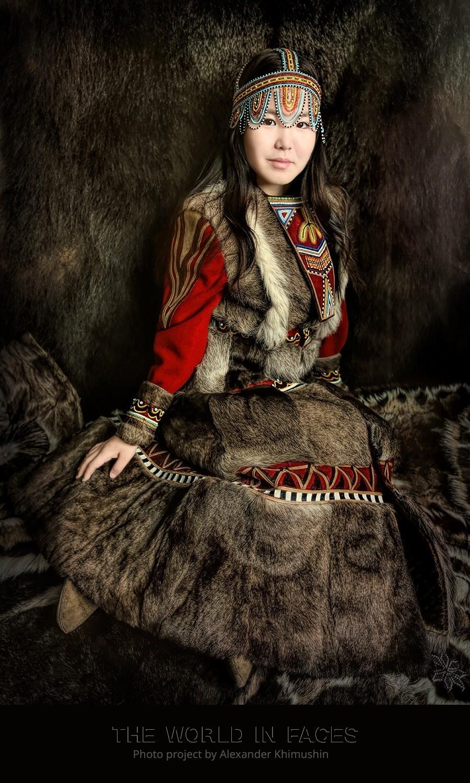 Dekle iz ljudstva Evenkov