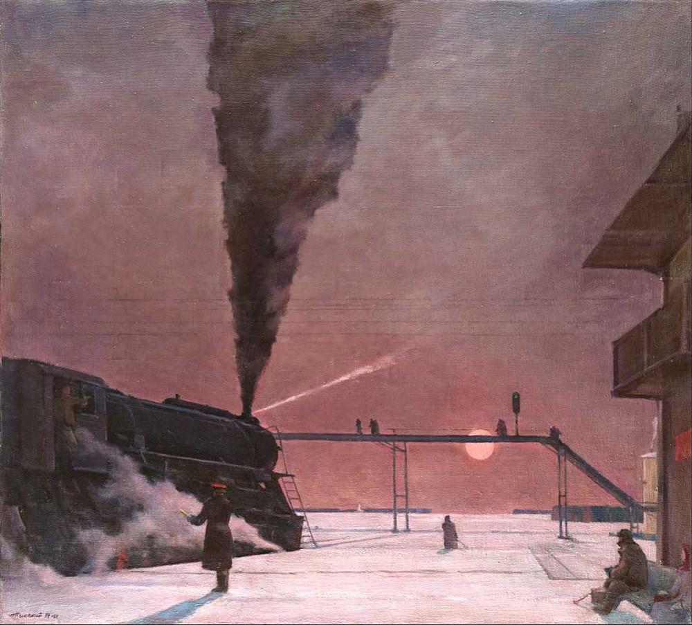 """На колосеку"", Георгиј Григорјевич Ниски  (1903 -1987)."