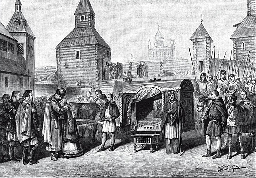 Départ de la princesse russe Anne de Kiev en France pour le mariage avec le roi Henri Ier