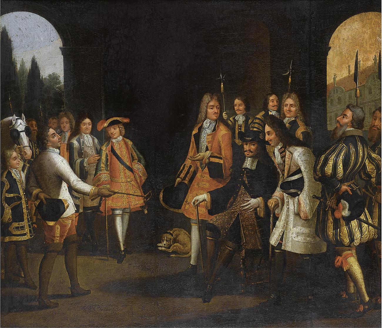 Pierre le Grand chez Louis XIV à Versailles, 1717