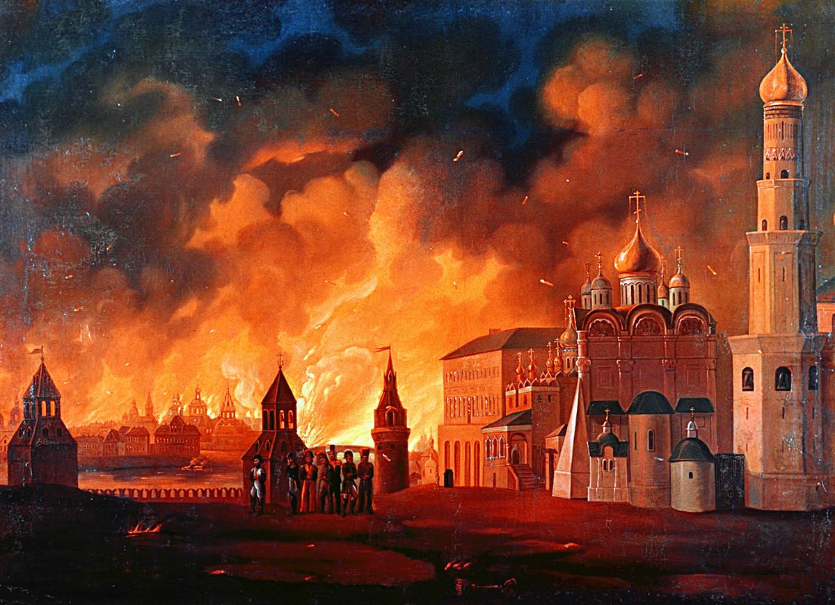 L'incendie de Moscou par le peintre Alexeï Smirnov