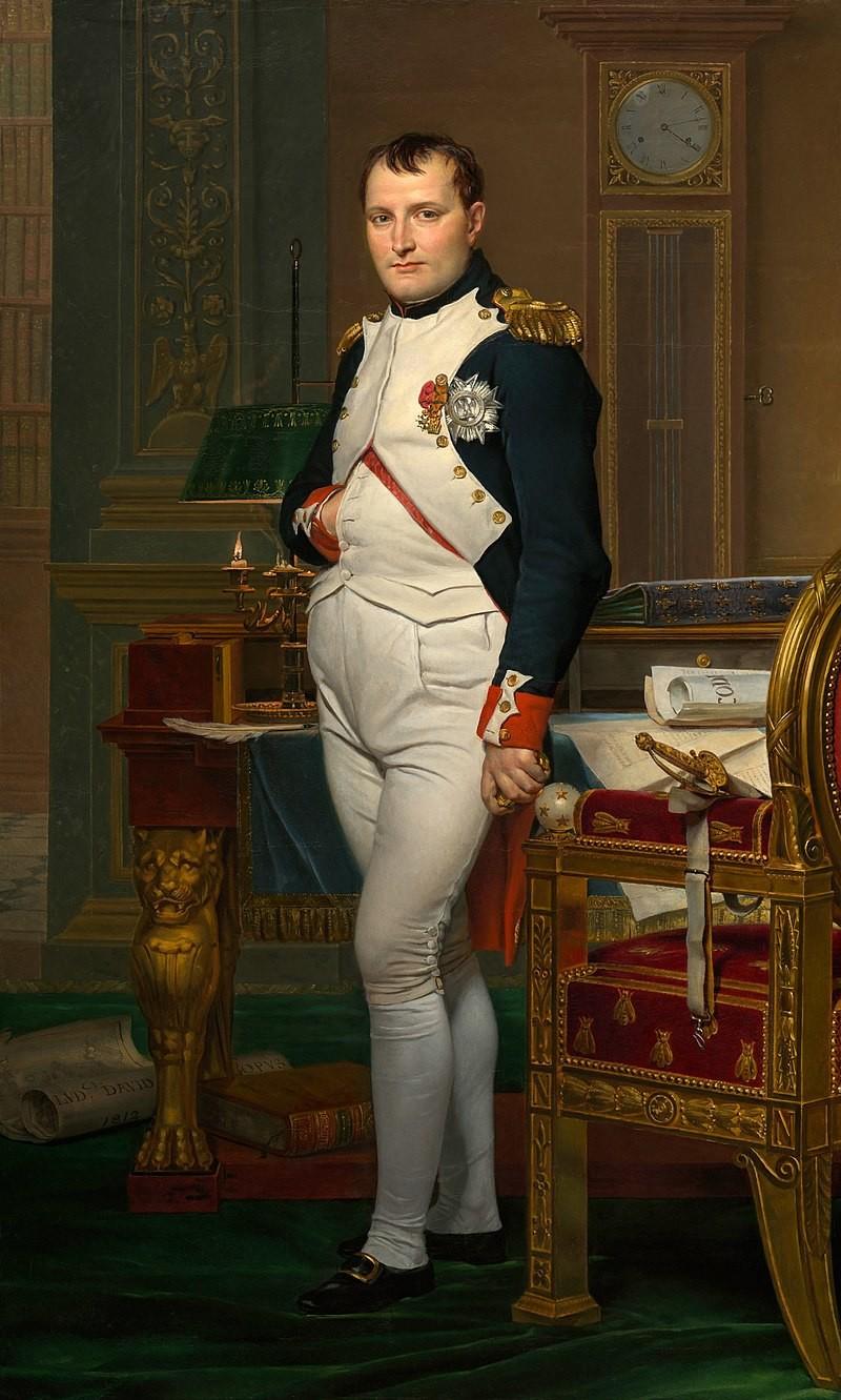 Napoléon dans son cabinet de travail par Jacques-Louis David