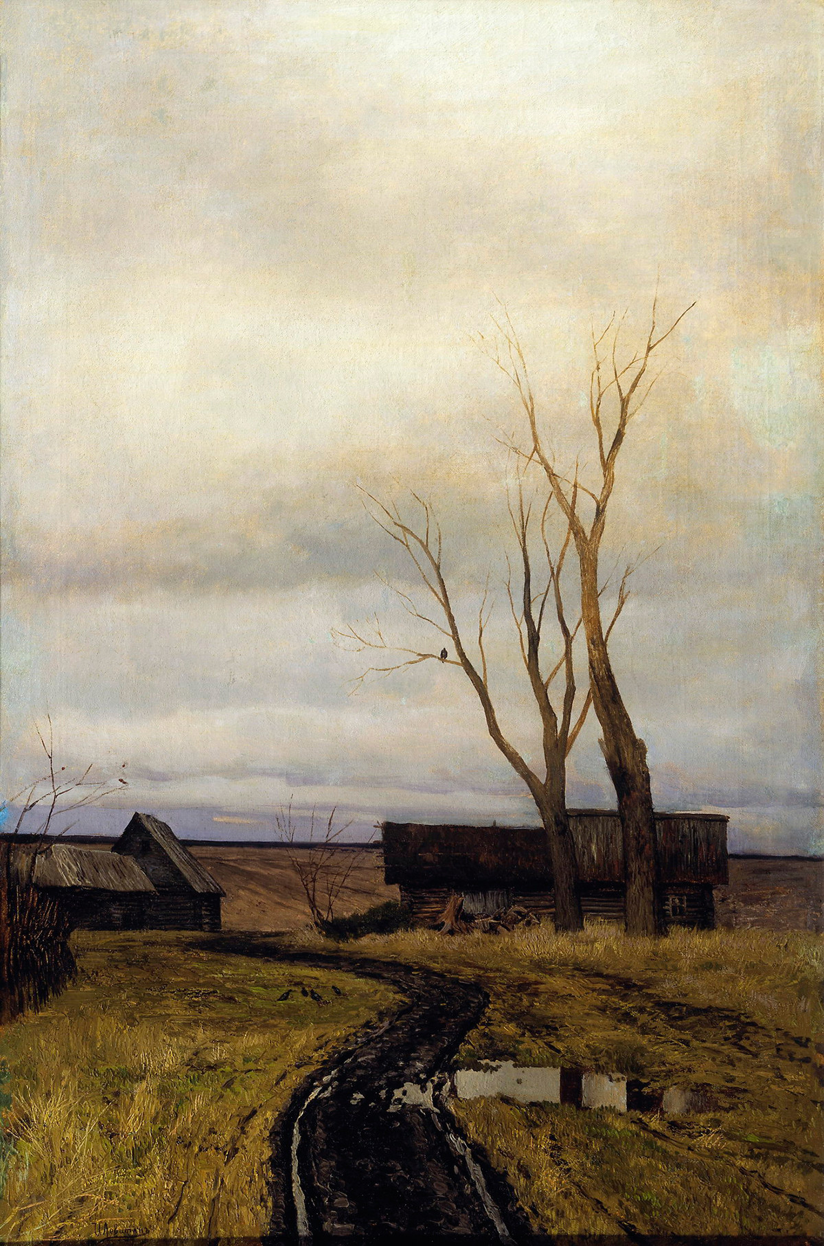 L'automne. La route du village, 1877