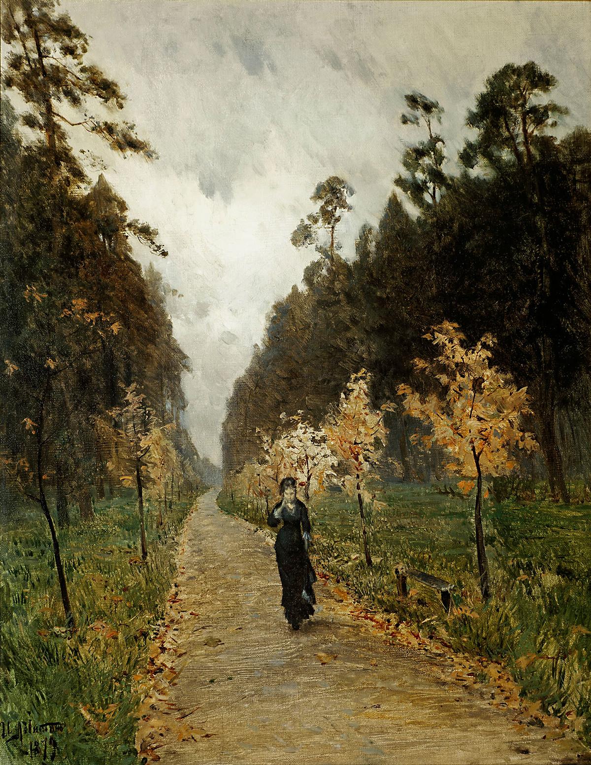 Jour d'automne. Sokolniki, 1879