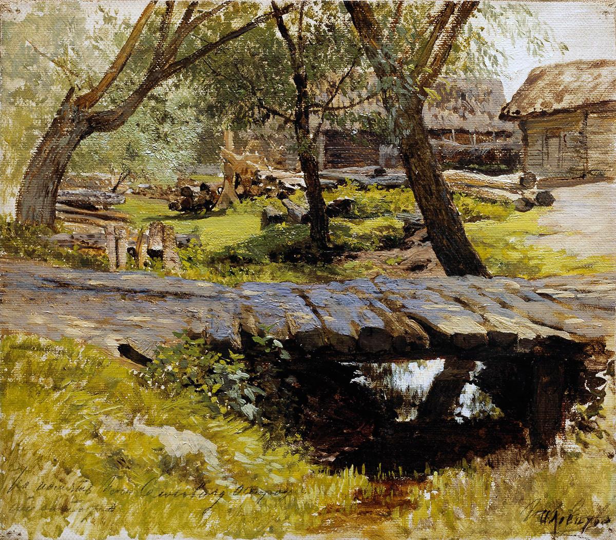 Pont. Savvinskaïa Sloboda, 1884