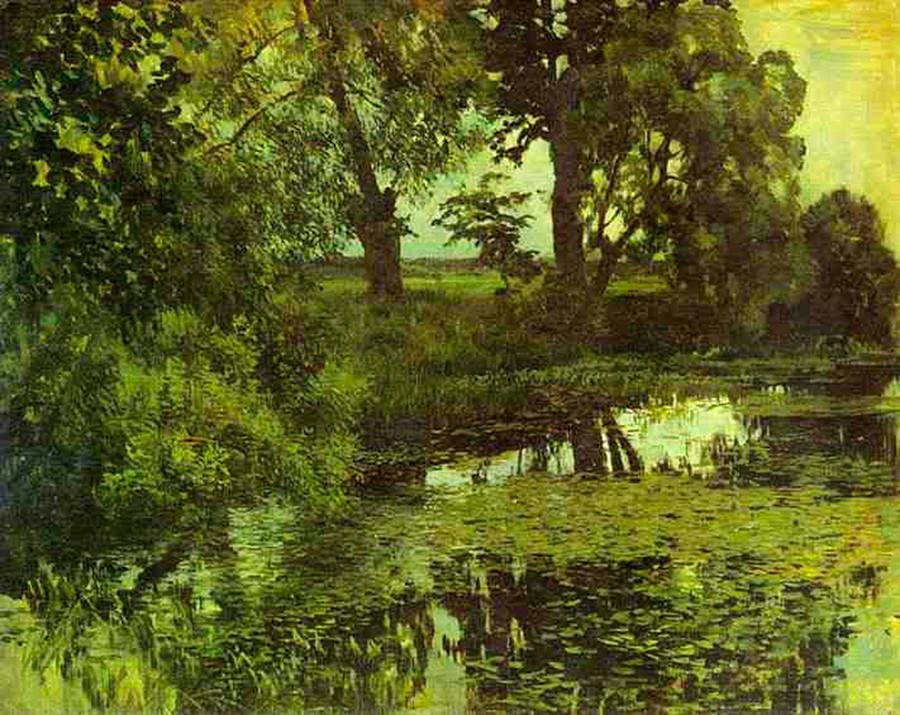 Étang envahi par la végétation, 1887