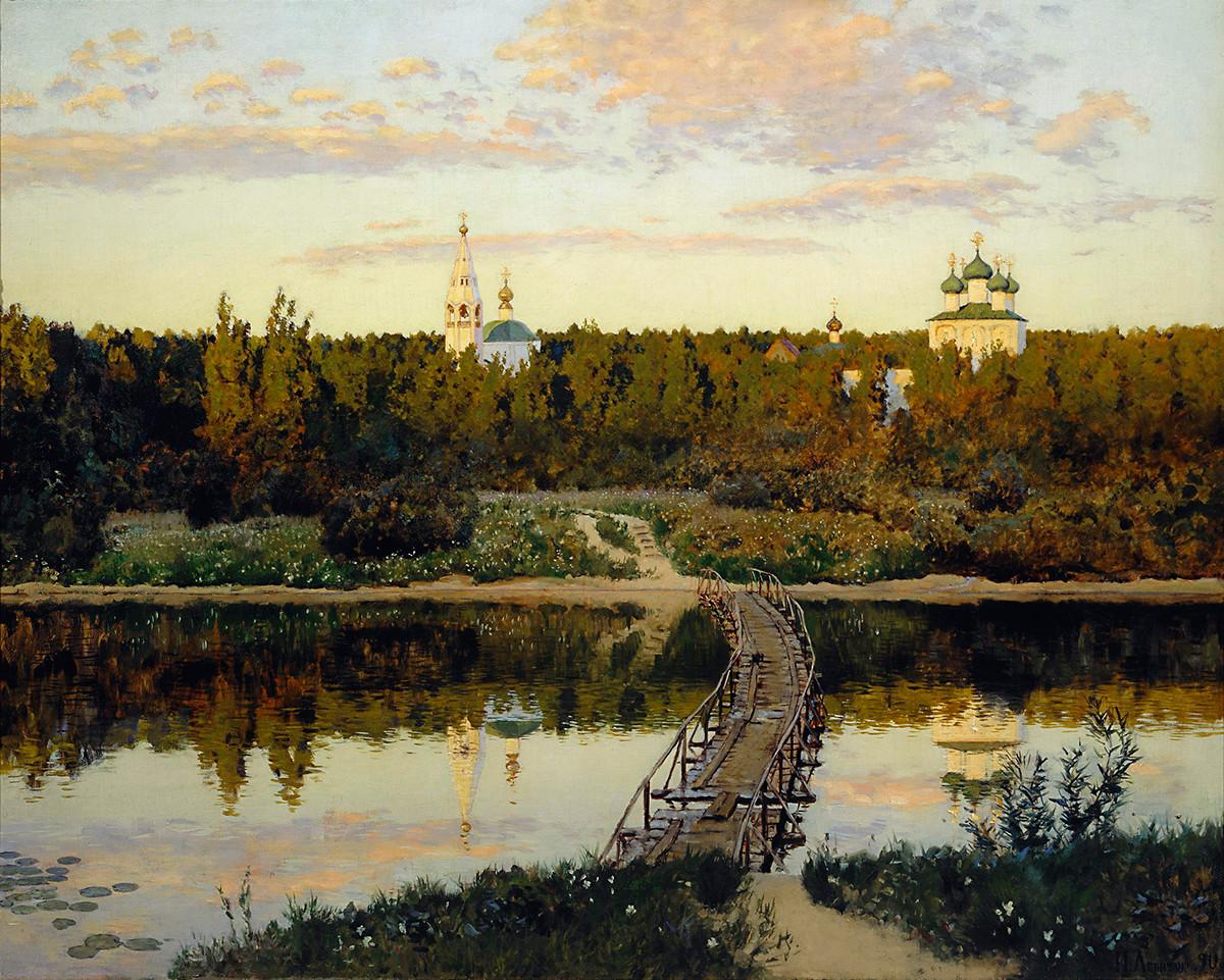 Monastère silencieux. 1890