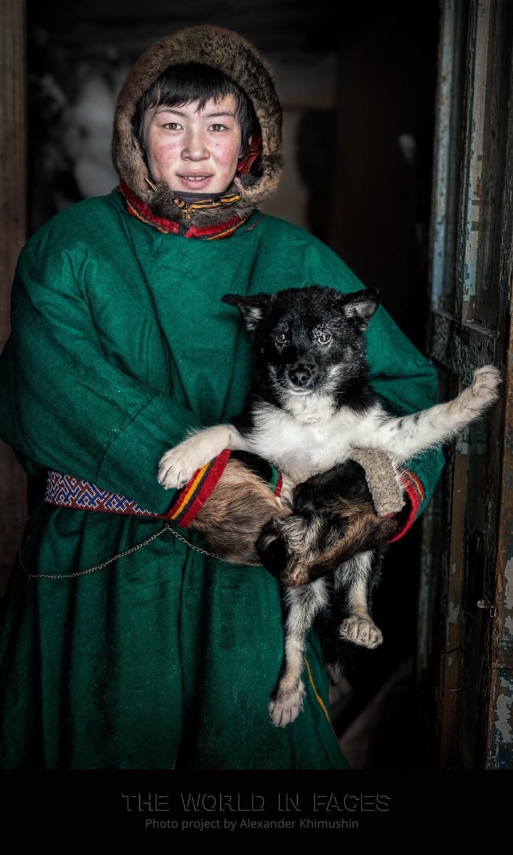 Nenets com cachorro