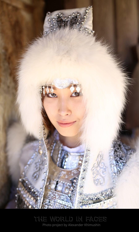 Eine junge Frau aus Jakutien