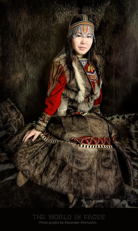 Eine junge Ewenken-Frau